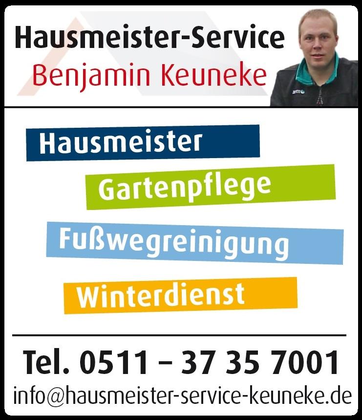 Hausmeister, Hausmeisterservice, Hausmeisterdienst, Hausmeister-Service, Benjamin Keuneke, in Hannover