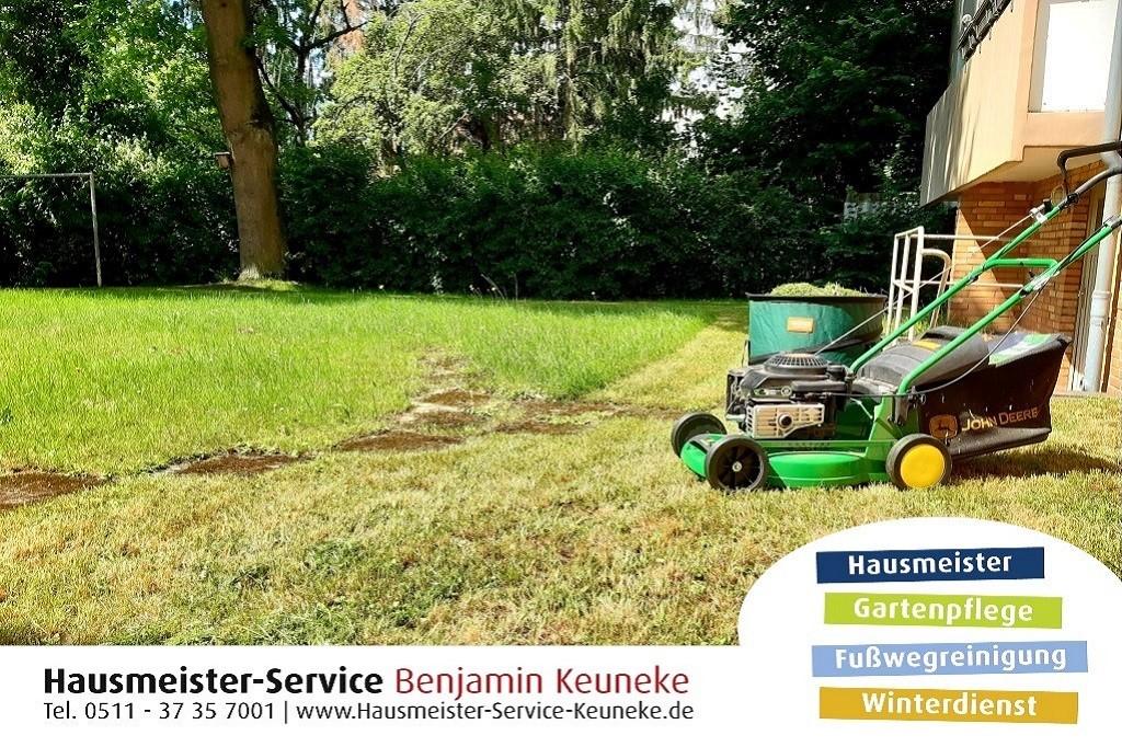Gartenpflege, Rasen mähen, für kleine Rasenflächen, Grünflächenpflege, in Hannover